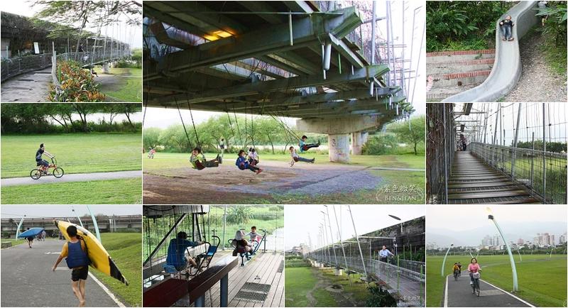 【慶和津梅棧道/津梅棧道/宜蘭河濱公園】懸浮在河上的天空步道,橋面可運動可賞景,橋下也可以盪鞦韆 (黃聲遠建築師作品).宜蘭市免費親子景點推薦 @紫色微笑 Ben&Jean 饗樂生活