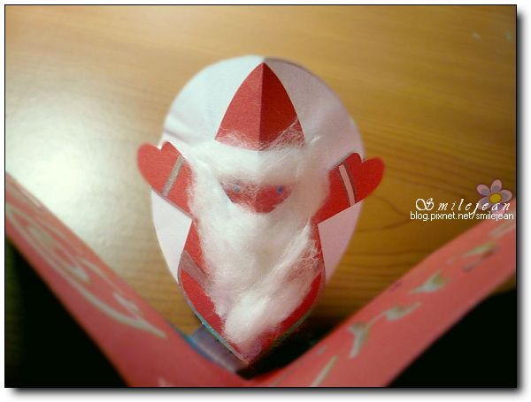 [DIY]Santa's Pop-up Card 聖誕老公公立體卡片 @紫色微笑 Ben&Jean 饗樂生活