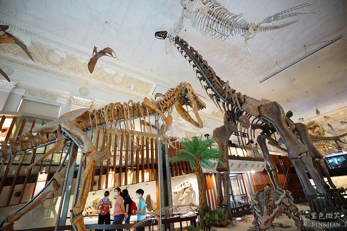 【土銀展示館|國立臺灣博物館】全票30元/學生票15元,入金庫補財庫,還可以吹冷氣看恐龍化石展,一比一的雷龍化石令人震撼|台北親子旅遊景點 @紫色微笑 Ben&Jean 饗樂生活
