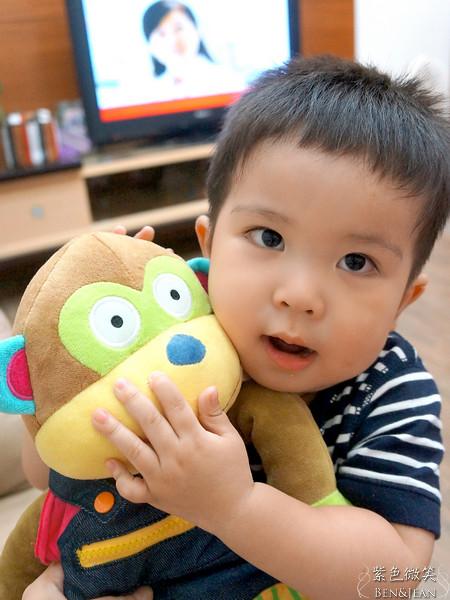 ▋I can do ▋兒子的手部練習新玩伴~~阿布猴子 @紫色微笑 Ben&Jean 饗樂生活